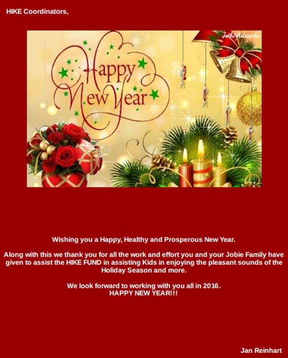 Happy New Year, Coordinators!