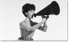 Lady-with-megaphone